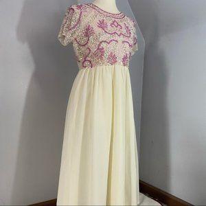 ASOS pink maternity baby shower dress HP